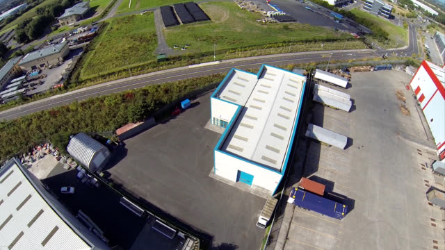 aerial view of an industrial unit - industrial district stock videos & royalty-free footage