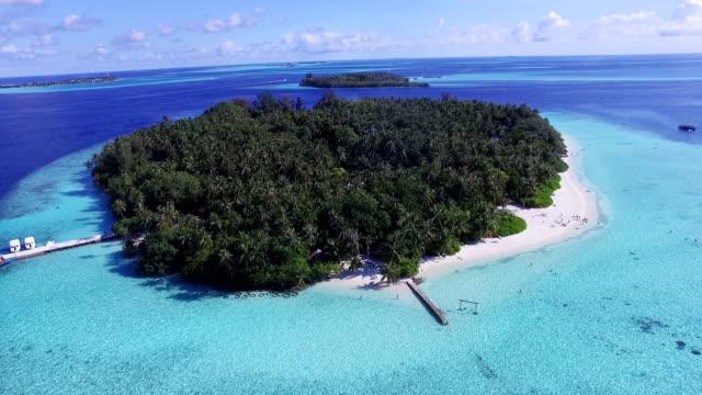 Luftaufnahme von einer Insel, Malediven
