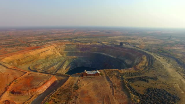 aerial view of an old gold mine in the australian outback - mining stock videos & royalty-free footage
