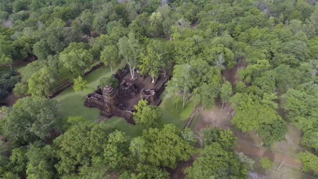 Aerial View of Angkor Castle