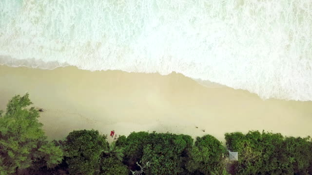 aerial view of anse intendance - mahe - seychelles - pjphoto69 stock videos & royalty-free footage