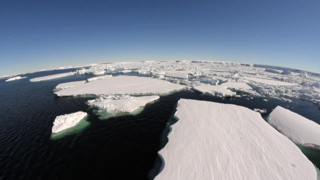 vídeos de stock, filmes e b-roll de aerial view of antarctic sea ice - pólo sul