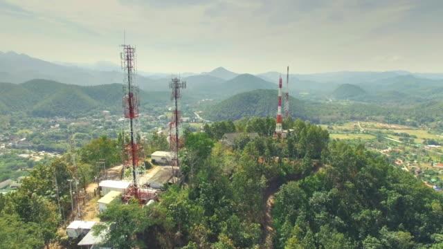 Luchtfoto van de mededeling van de antenne