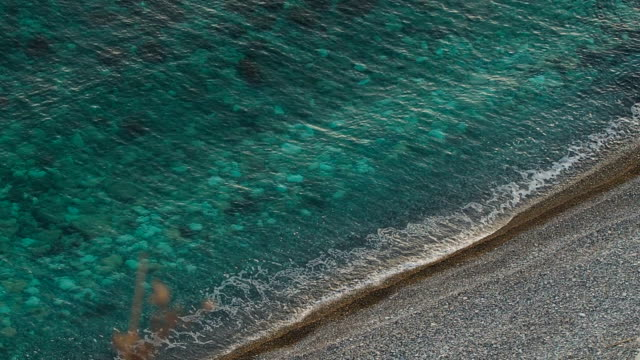 Aerial View of Aphrodite's Birthplace Beach, Cyprus