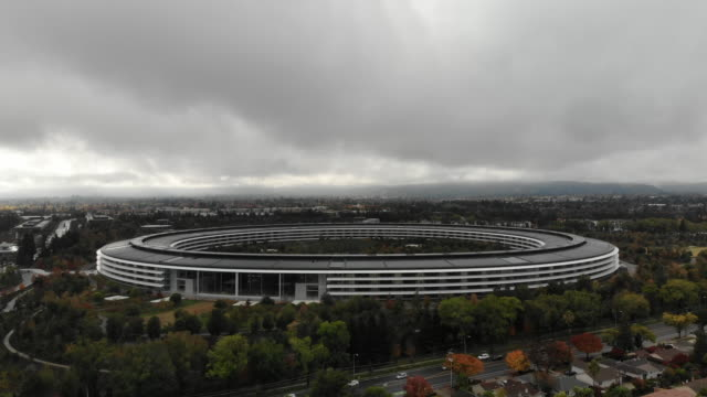 sunnyvale california usa november 24 2018 aerial view of apple park the headquarters for apple located in silicon valley - silicon valley stock videos & royalty-free footage