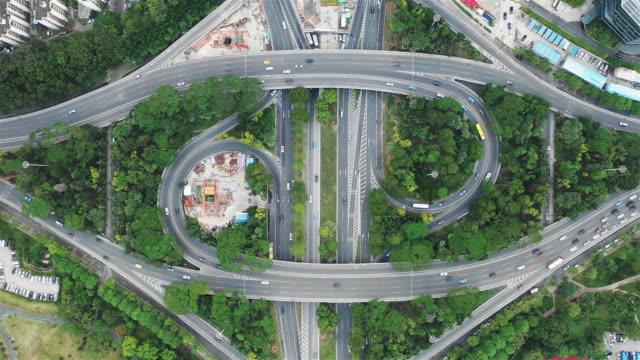 Luftaufnahme der Bogenbrücke in Shenzhen
