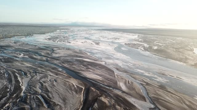 Aerial view of arctic landscape in Iceland
