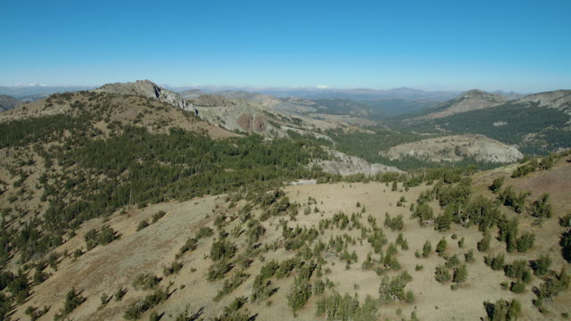 aerial view of arnot peak in sierra nevada ca - national forest stock videos and b-roll footage