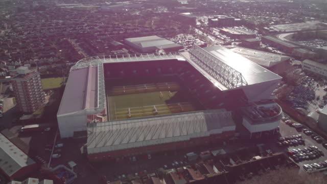 aerial view of ashton gate stadium bristol uk - stadium stock videos & royalty-free footage