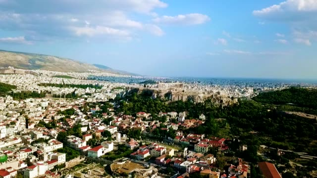 aerial view of athens - greece - mythology stock videos & royalty-free footage