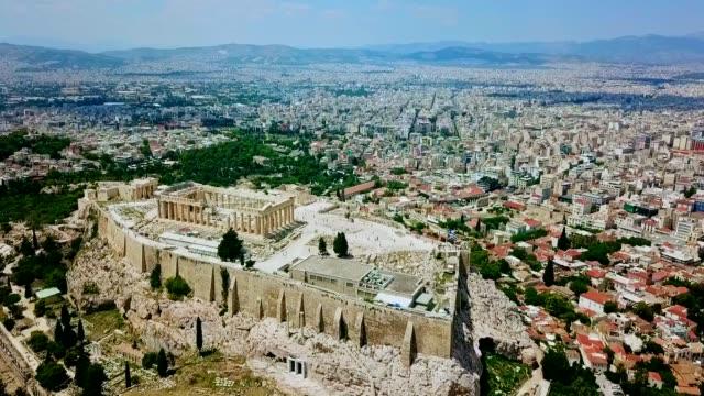 vidéos et rushes de vue aérienne d'athènes - grèce - athens greece