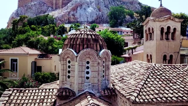 aerial view of athens - greece - parthenon athens stock videos and b-roll footage