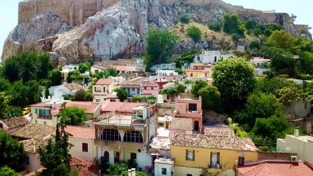 aerial view of athens - greece - history stock videos & royalty-free footage