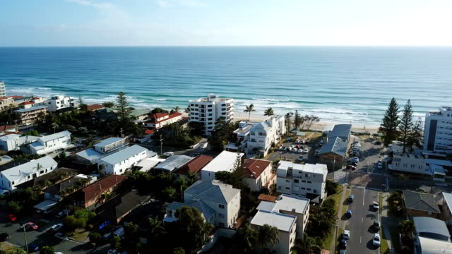 aerial view of australian city. coastline - moving image stock videos & royalty-free footage