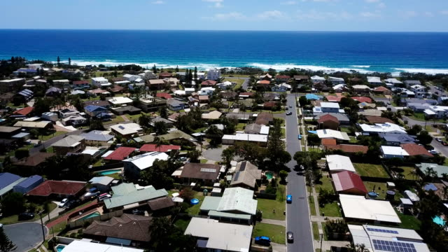 aerial view of australian city. coastline - house stock videos & royalty-free footage