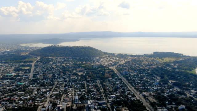 aerial view of awassa  metropolitan city and lake awasa/ ethiopia - ethiopia stock videos & royalty-free footage