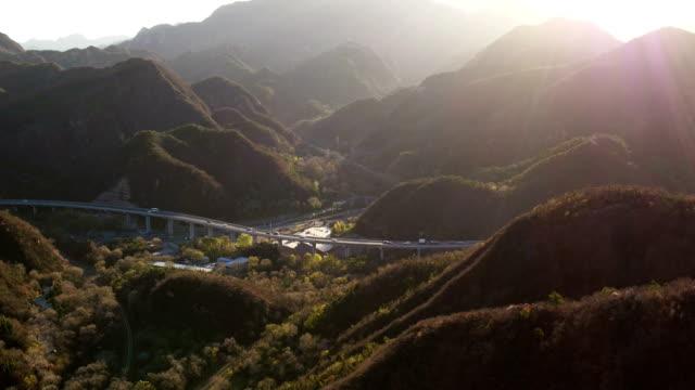 vídeos y material grabado en eventos de stock de aerial view of badaling highway in beijing, china - badaling