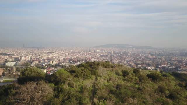 Aerial view of Barcelona from Carretera Aigues
