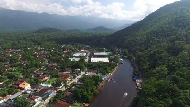 aerial view of barra do una, brazil - amazon region stock videos & royalty-free footage
