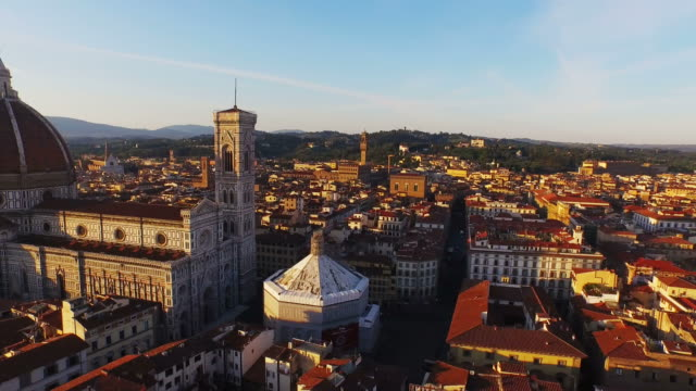 aerial view of basilica di santa maria maggiore at firenze - architectural dome stock videos & royalty-free footage