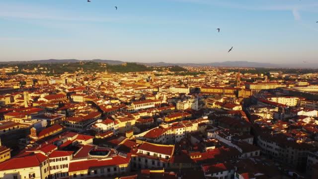 aerial view of basilica di santa maria maggiore at firenze - florenz stock-videos und b-roll-filmmaterial