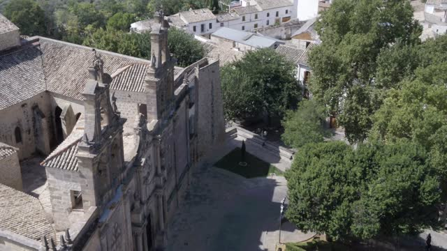 aerial view of basílica de santa maría de los reales alcázares during the lockdown of coivd-19. basílica y real colegiata de santa maría la mayor de... - ヴァージンレコード点の映像素材/bロール