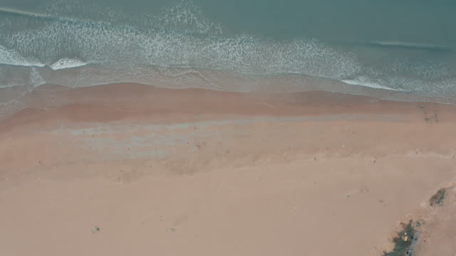 aerial view of beach and sea - liyao xie stock videos & royalty-free footage