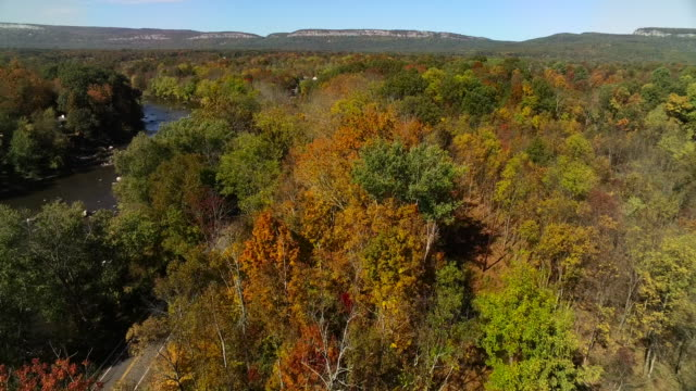 aerial view of beautiful fall foliage - new paltz ny stock videos and b-roll footage