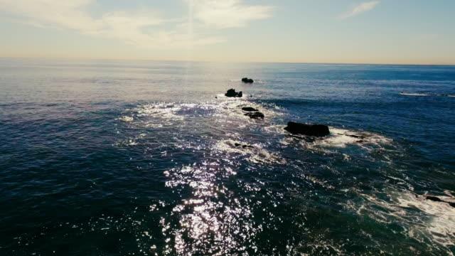 aerial view of beautiful laguna beach in the summer sun - laguna beach california stock videos & royalty-free footage
