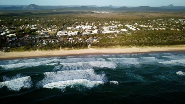 aerial view of beautiful, rocky coast. city skyline - remote location stock videos & royalty-free footage