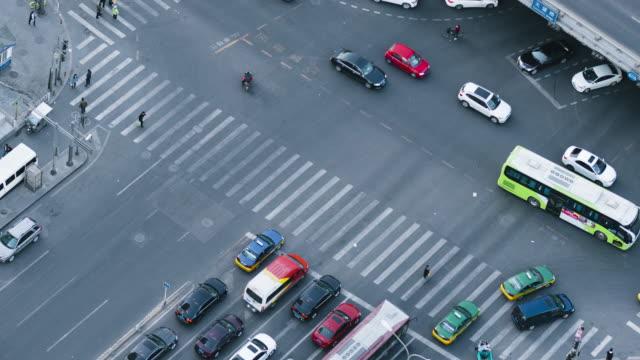 T/L MS HA PAN Aerial View of Beijing Crossing