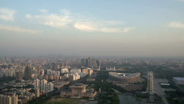 aerial view of beijing from the tower - china east asia stock videos & royalty-free footage