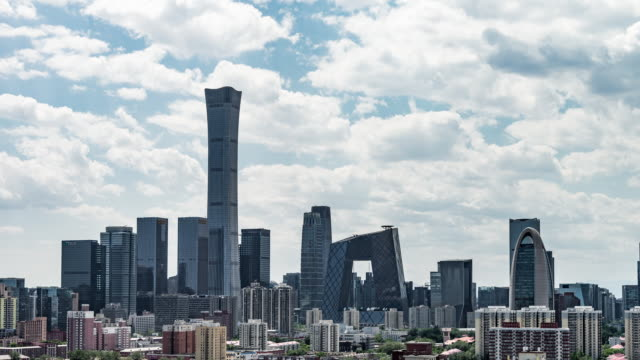 t/l zi aerial view of beijing skyline and downtown / beijing, china - beijing stock videos & royalty-free footage