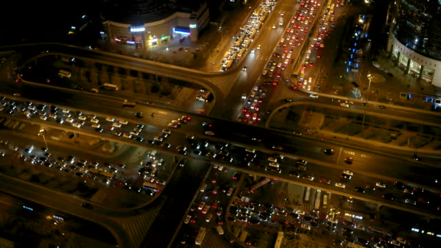 Aerial View of Beijing Traffic Jam / Beijing, China