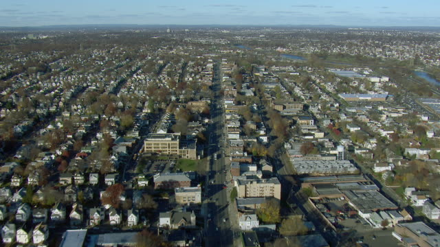 aerial view of belleville new jersey - new jersey stock videos & royalty-free footage
