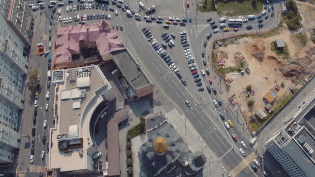 Aerial view of Belorusskiy Railway Station