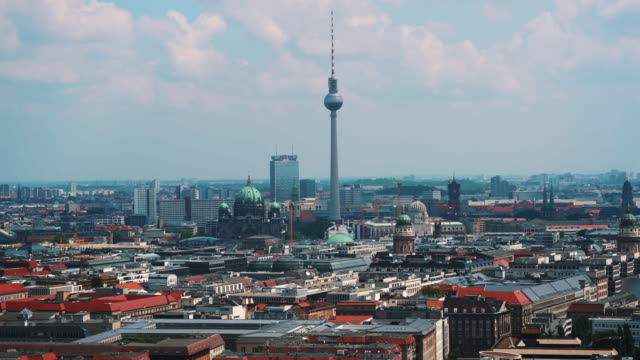 aerial view of berlin city - real time stock videos & royalty-free footage