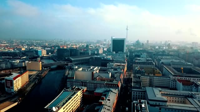 aerial view of berlin - germany - panoramic stock videos & royalty-free footage