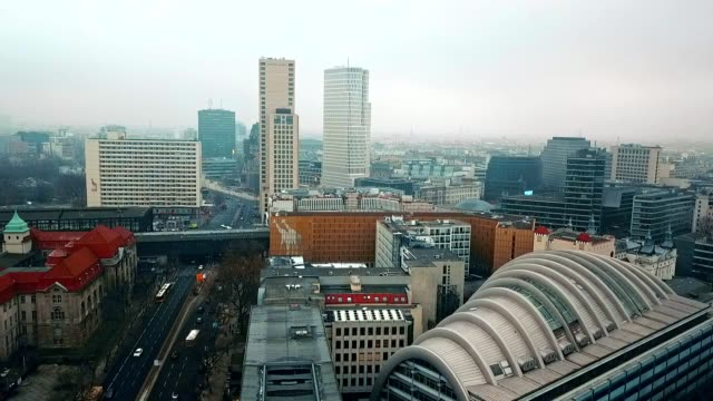 aerial view of berlin - germany - alexanderplatz stock videos & royalty-free footage