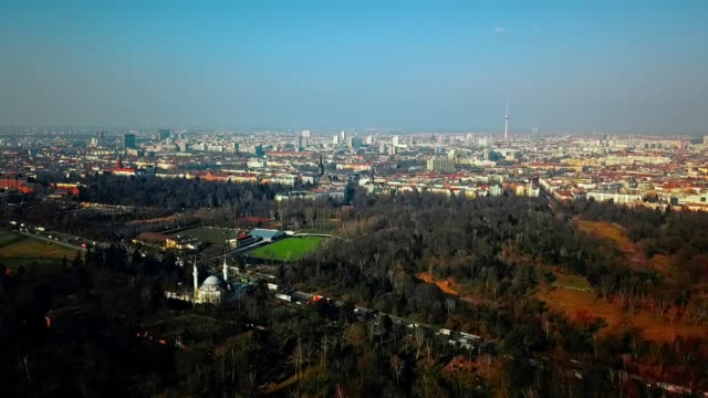 aerial view of berlin - germany - germania video stock e b–roll