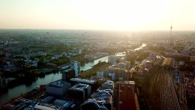 aerial view of berlin - germany - rathaus stock videos & royalty-free footage