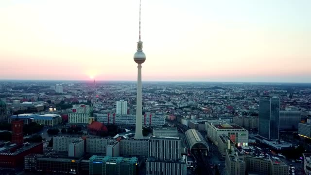 aerial view of berlin - germany - tower stock videos & royalty-free footage