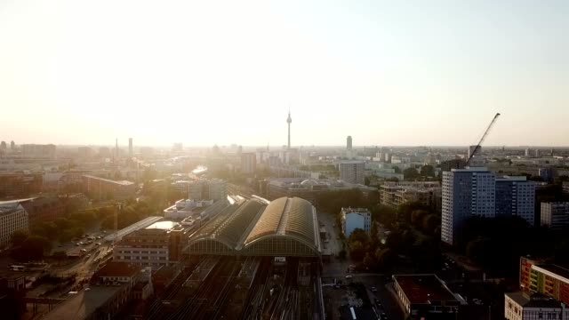 aerial view of berlin - germany - wide angle stock videos & royalty-free footage