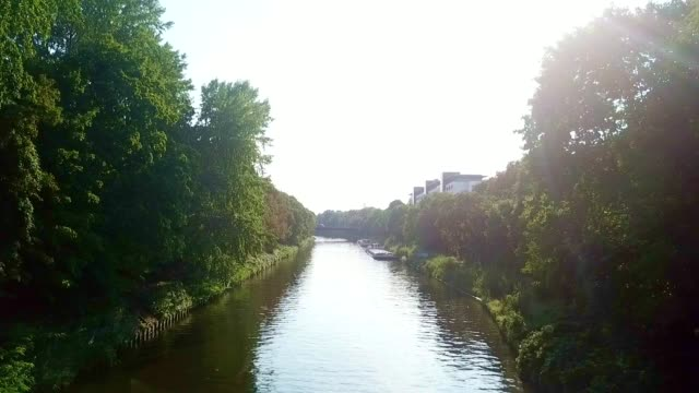 aerial view of berlin - germany - river spree stock videos & royalty-free footage