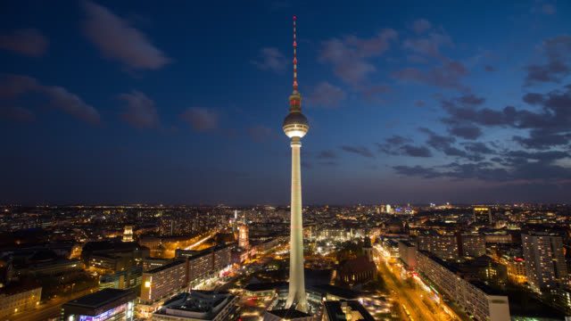 Aerial view of Berlin Skyline