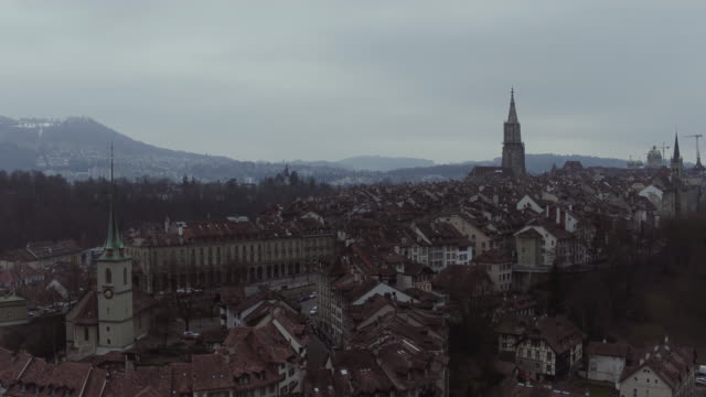 aerial view of bern old city - switzerland stock videos & royalty-free footage