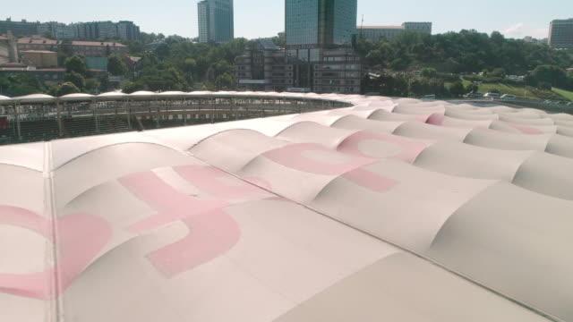 Aerial view of Besiktas Football Stadium, Vodafone Arena. Istanbul. Turkey.