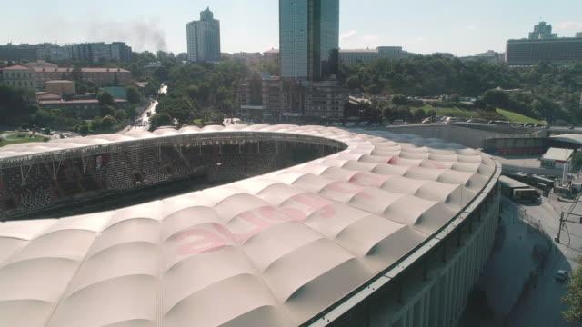 aerial view of besiktas football stadium, vodafone arena. istanbul. turkey. - イスタンブール 金角湾点の映像素材/bロール