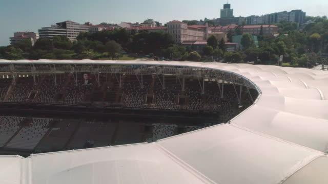 vídeos y material grabado en eventos de stock de aerial view of besiktas football stadium, vodafone arena. istanbul. turkey. - turquía