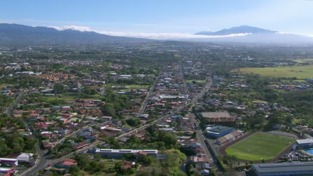 aerial view of bethlehem sports center, belen, costa rica - san jose costa rica stock videos & royalty-free footage